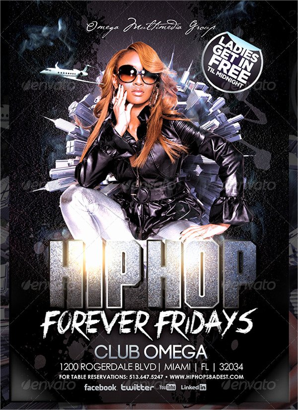 Hip Hop Party Flyer Fresh 77 Party Flyer Designs Psd Vector Ai Eps