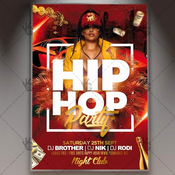 Hip Hop Party Flyer Fresh Download Hip Hop Party Flyer Psd Template
