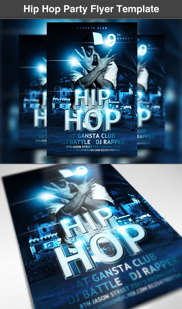 Hip Hop Party Flyer Fresh Hip Hop Party Flyer Template ‹ Psdbucket