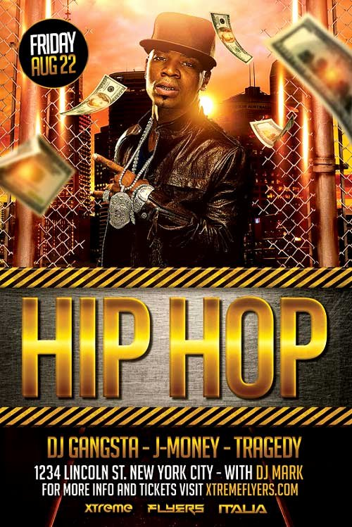 Hip Hop Party Flyer Inspirational Hip Hop Flyer Template Psd Download Best Flyer Templates