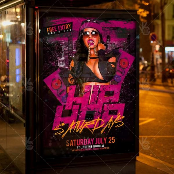 Hip Hop Party Flyer New Hip Hop Party Premium Flyer Psd Template