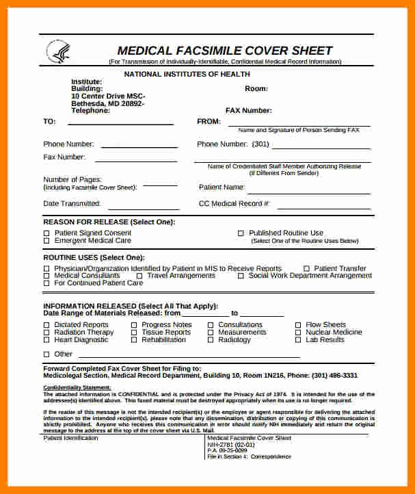 Hipaa Fax Cover Sheet Best Of 6 Medical Fax Cover Sheet Template