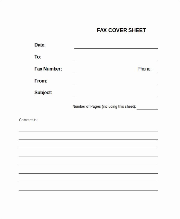 Hipaa Fax Cover Sheet Elegant Fax Sheet Template 3 Free Word Documents Download