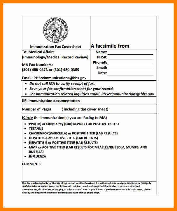 Hipaa Fax Cover Sheet Fresh 8 Medical Fax Cover Sheet Templates