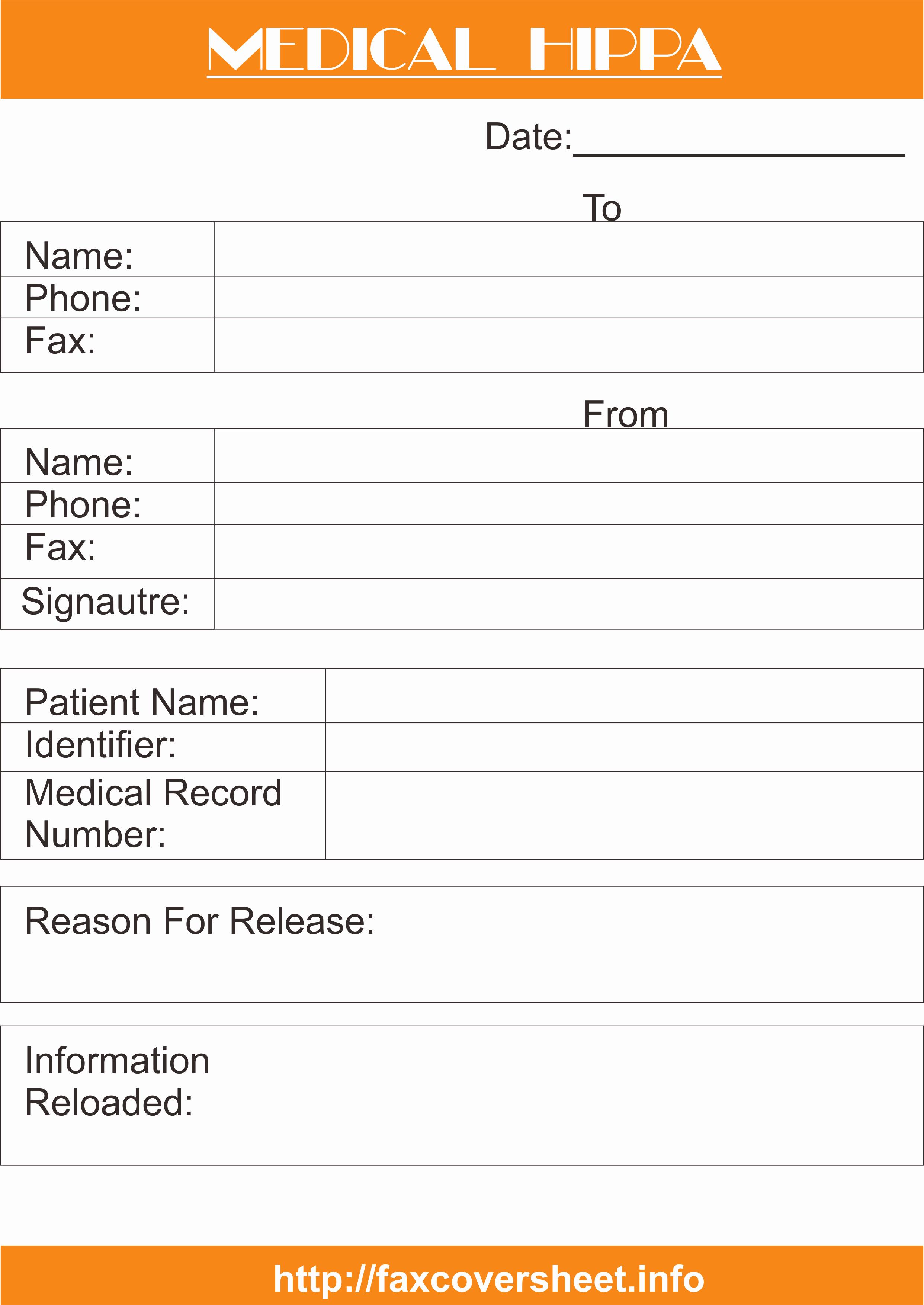 Hipaa Fax Cover Sheet Fresh Sample Medical Hipaa Fax Cover Sheet Templates
