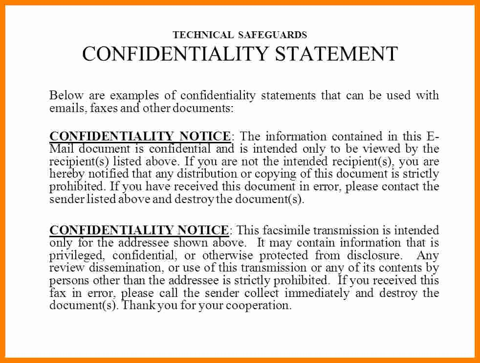 Hipaa Fax Cover Sheet Luxury 9 Hipaa Fax Confidentiality Statement