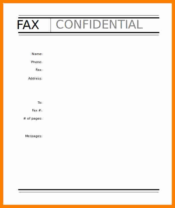 Hipaa Fax Cover Sheet New 9 Confidential Fax Cover Sheets
