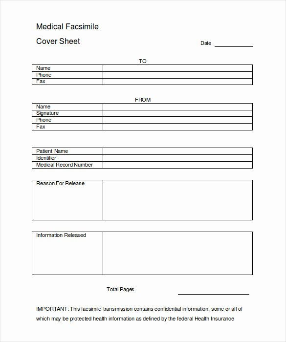 Hipaa Fax Cover Sheet Unique 12 Cover Sheet Doc Pdf