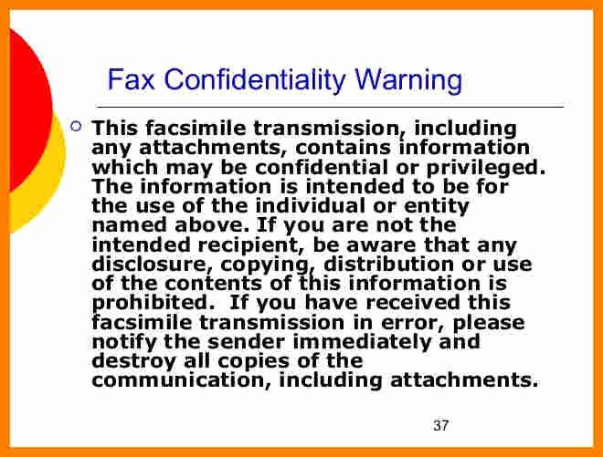 Hipaa Fax Cover Sheet Unique 9 Hipaa Fax Confidentiality Statement