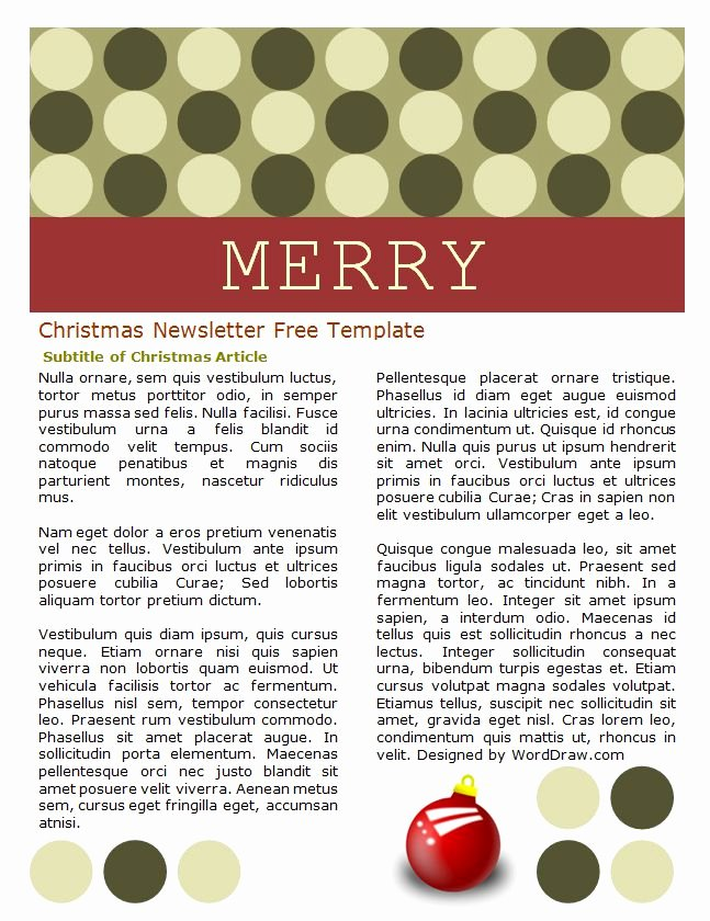 Holiday Newsletter Templates Free Awesome 49 Free Christmas Letter Templates that You Ll Love