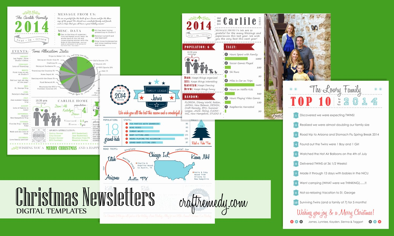 Holiday Newsletter Templates Free Best Of Christmas Newsletter Year In Review Infographic Templates Craft Remedy