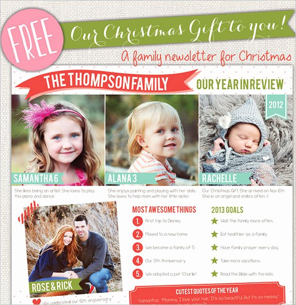 Holiday Newsletter Templates Free Elegant 41 Christmas Email Newsletter Templates Free Psd Eps Ai HTML format Download