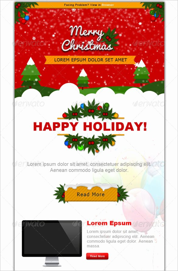 Holiday Newsletter Templates Free Fresh 41 Christmas Email Newsletter Templates Free Psd Eps Ai HTML format Download