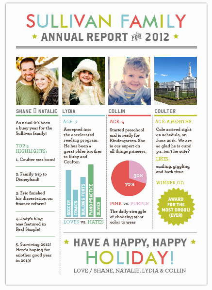 Holiday Newsletter Templates Free Fresh Christmas Letter Content Idea Break It Down by Person and Includes Highlights and Fun Graphs