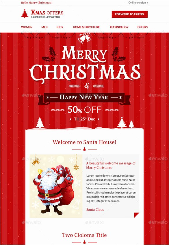 Holiday Newsletter Templates Free Luxury 28 Christmas Newsletter Templates Free Psd Eps Ai Word
