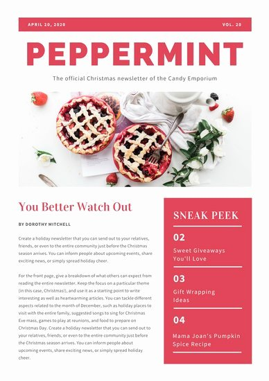 Holiday Newsletter Templates Free New Customize 719 Newsletter Templates Online Canva