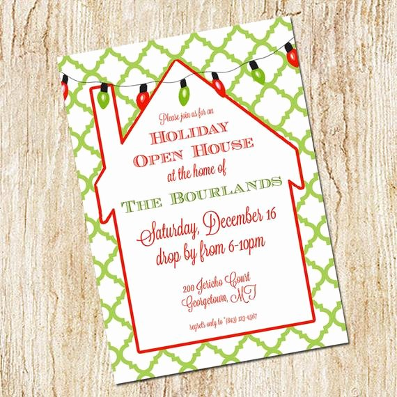 Holiday Open House Invitations Awesome Items Similar to Holiday Party Invitation Christmas Invitation Digial File Print Yourself or