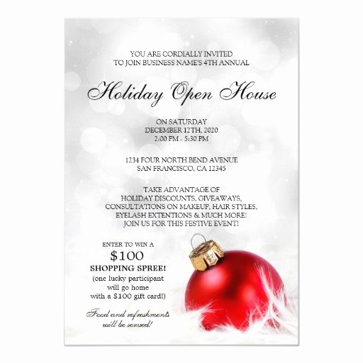 Holiday Open House Invitations Beautiful Custom Christmas Holiday Open House Invitation