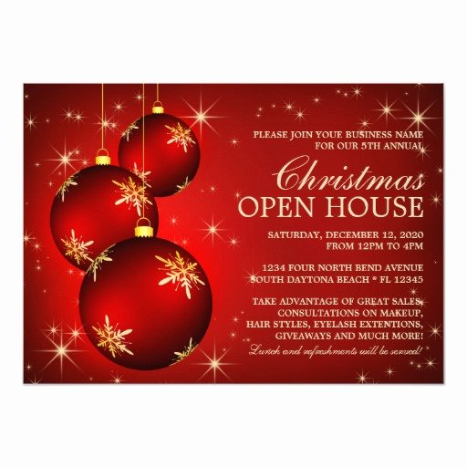 Holiday Open House Invitations Best Of Business Christmas Open House Invitations