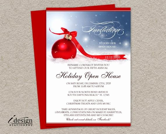Holiday Open House Invitations Best Of Holiday Open House Invitation for Business Store Festive