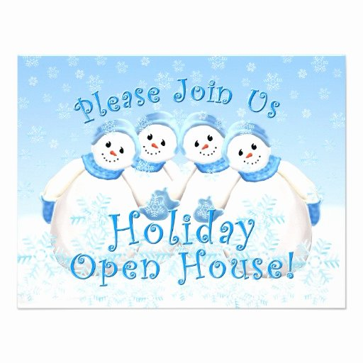 "Holiday Open House Invitations Best Of Snow Girls Holiday Open House Invitations 4 25"" X 5 5"" Invitation Card"