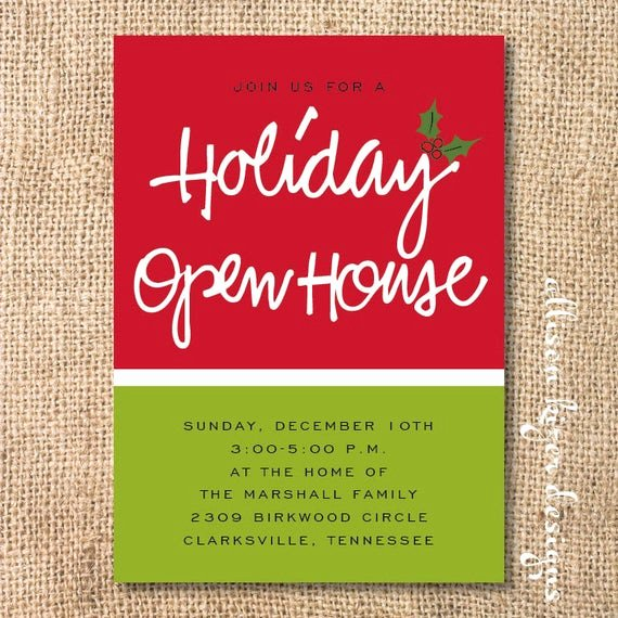 Holiday Open House Invitations Fresh Items Similar to Holiday Open House Printable Invitation On Etsy
