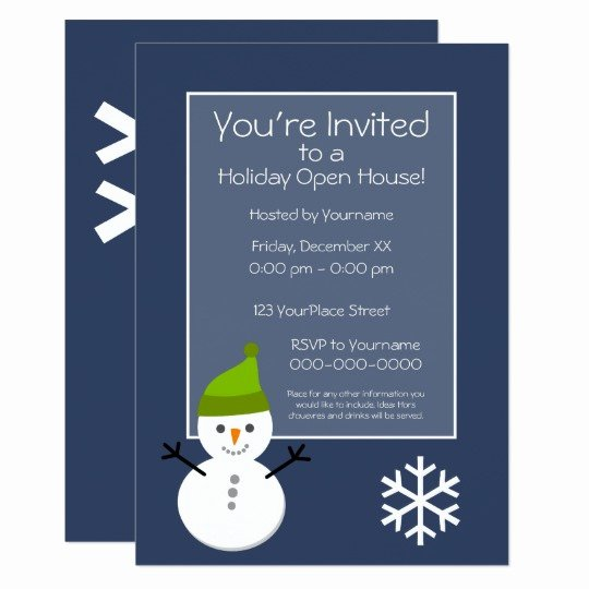 Holiday Open House Invitations Inspirational Christmas Holiday Open House Invitation