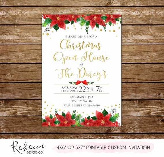 Holiday Open House Invitations Inspirational Christmas Open House Invitation Holiday Open House Invitation