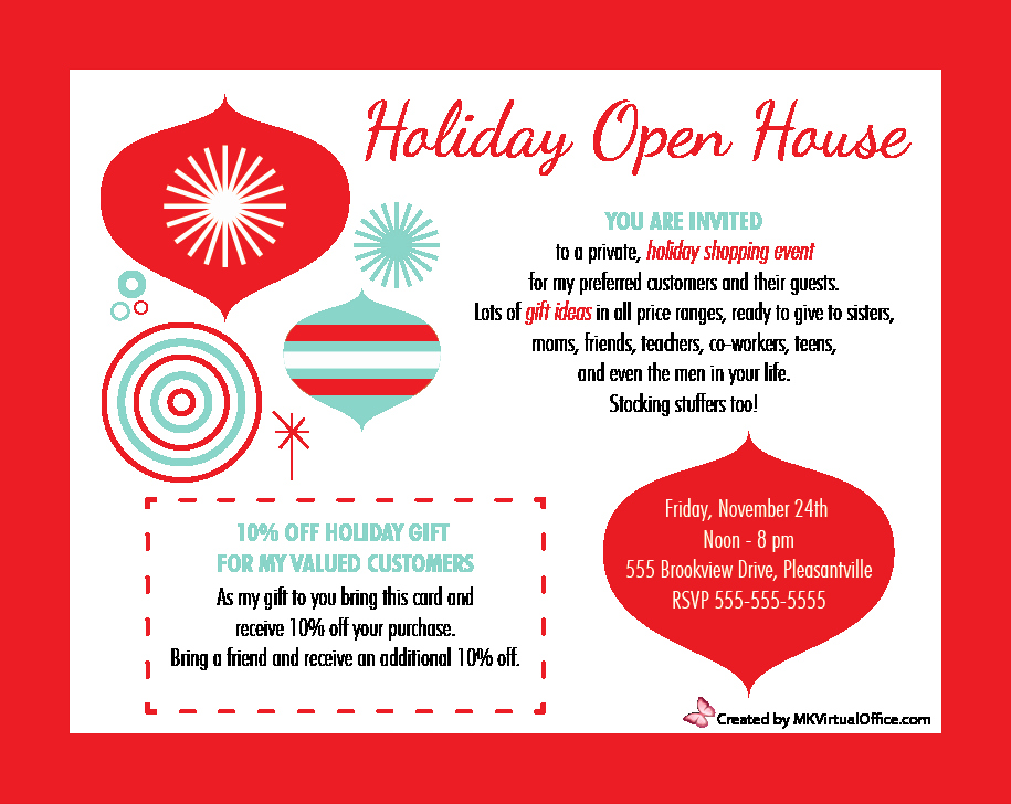 Holiday Open House Invitations Inspirational Holiday Open House 2014 Mk Virtual Fice