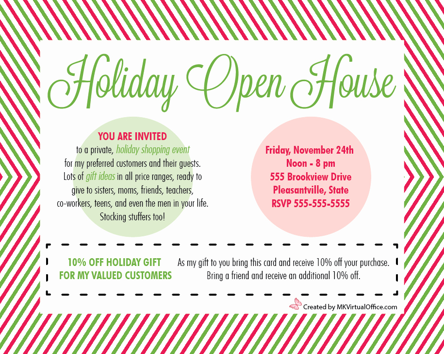 Holiday Open House Invitations Inspirational Holiday Open Houses Mk Virtual Fice