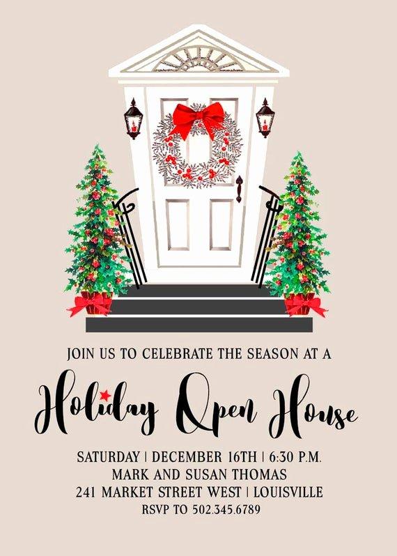 Holiday Open House Invitations Lovely Holiday Open House Invitation Holiday Party Invitation Open