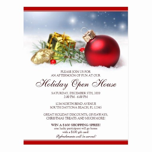 Holiday Open House Invitations Luxury Christmas Holiday Open House Invitations Postcard