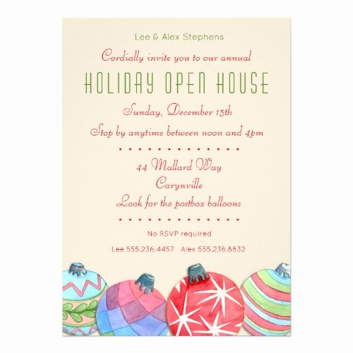 Holiday Open House Invitations Luxury Christmas Holiday Open House Party Invitation