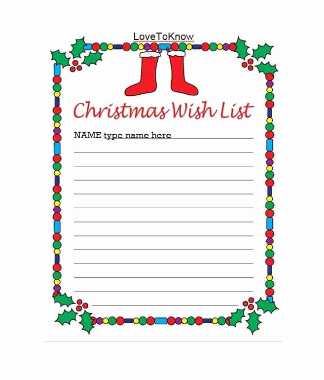 Holiday Wish List Template Best Of 43 Printable Christmas Wish List Templates & Ideas Template Archive