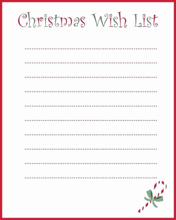 Holiday Wish List Template Fresh Printable Christmas List Template Christmas Printables