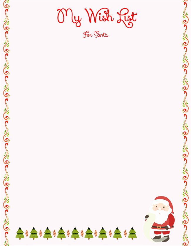 Holiday Wish List Template Lovely 20 Free Letter to Santa Templates for Kids to Write Wishes