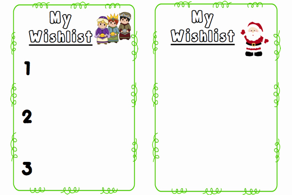 Holiday Wish List Template Unique Christmas Wishlist Templates Freebie – the Mommy Teacher