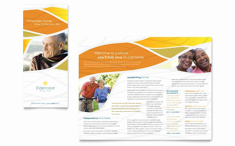 Home Health Care Brochures Beautiful assisted Living Brochure Template Word & Publisher
