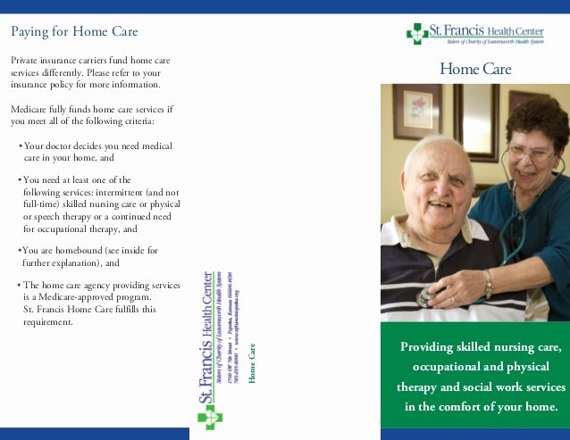 Home Health Care Brochures Beautiful Home Care Brochure