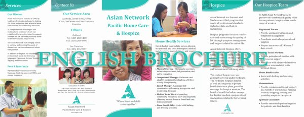 Home Health Care Brochures Elegant asian Network Pacific Home Care Bilingual Brochures