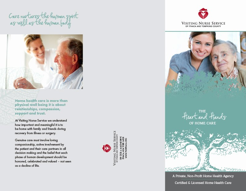 Home Health Care Brochures Lovely Visiting Nurse Service Of Ithaca and tompkins County