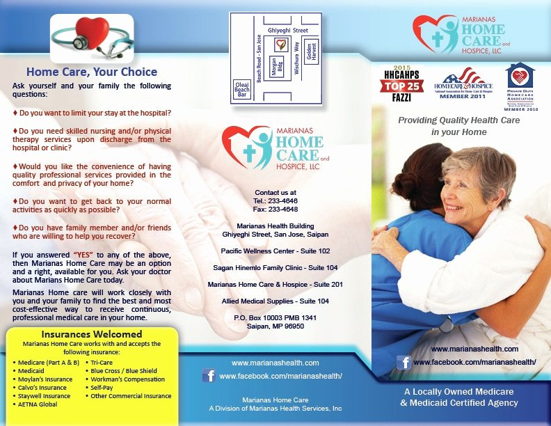 "Home Health Care Brochures Luxury ""our Mission is to Provide Quality and Experienced Health Care solutions Throughout the Pacific"