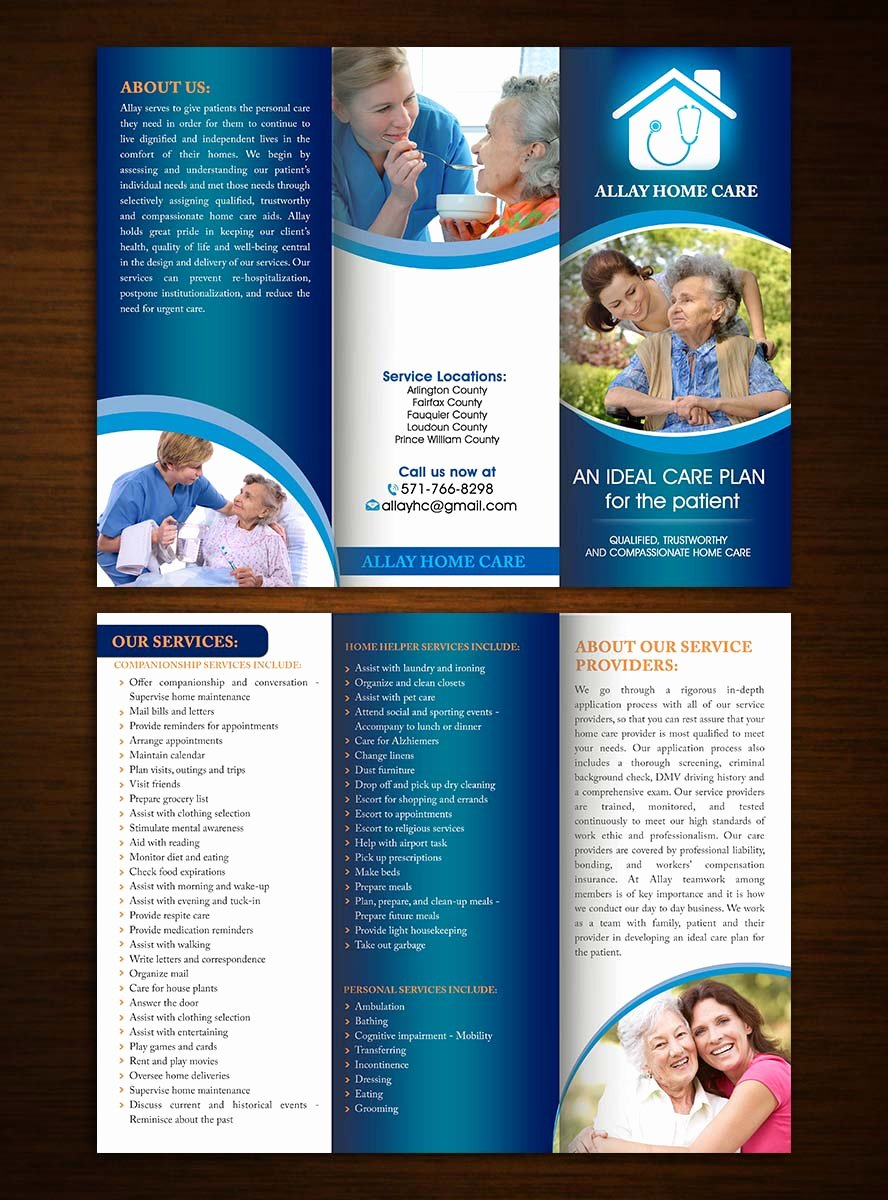 Home Health Care Brochures New Elegant Playful Home Health Care Brochure Design for A Pany by Creative Bugs