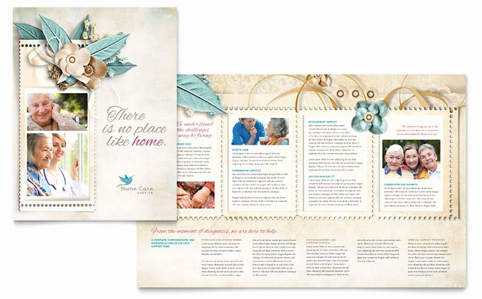 Home Health Care Brochures New Hospice & Home Care Brochure Template Design