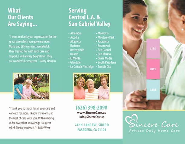 Home Health Care Brochures New Our Brochures