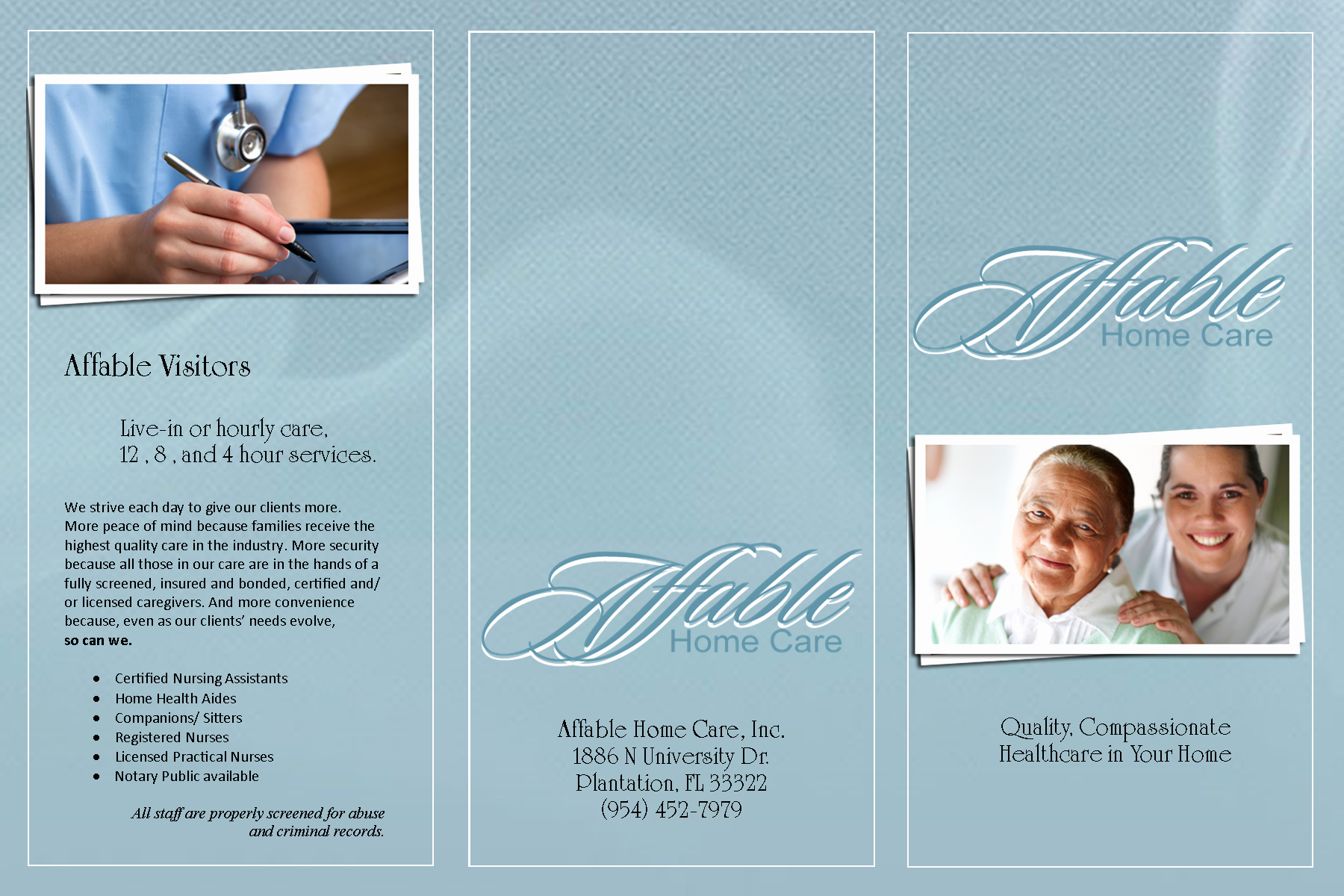 Home Health Care Brochures Unique Affable Home Health Care Brochure Brochures