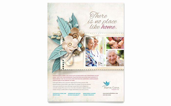 Home Health Care Flyers Awesome Hospice & Home Care Flyer Template Design