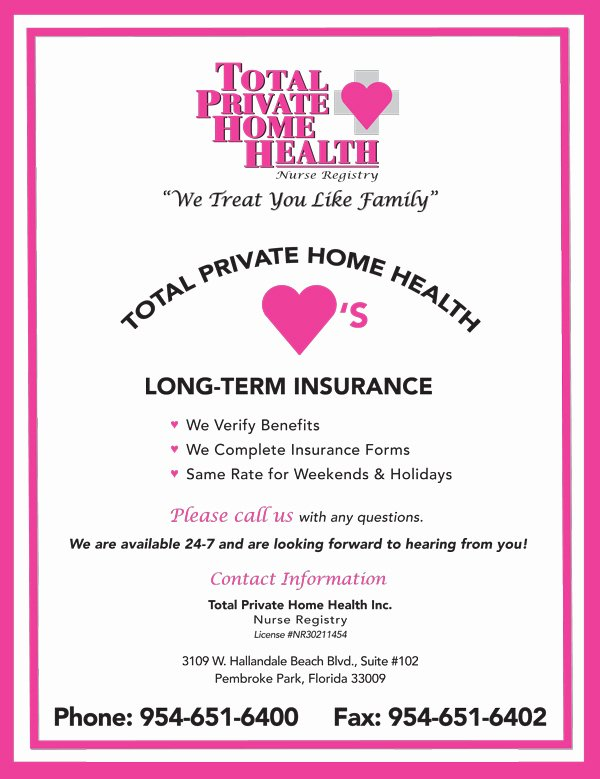 Home Health Care Flyers Awesome total Private Home Health News