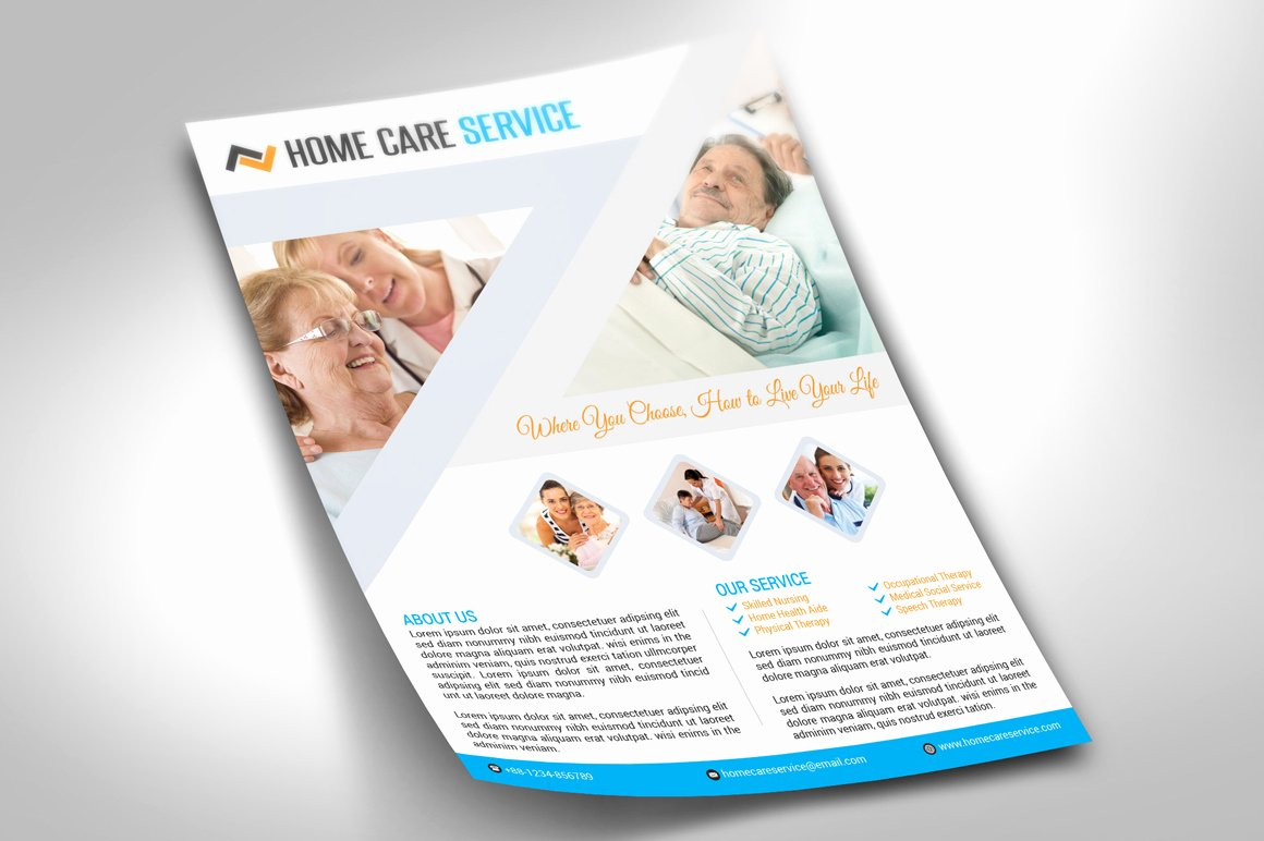 Home Health Care Flyers Best Of Home Care Flyer Flyer Templates On Creative Market
