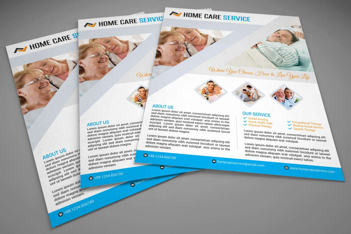 Home Health Care Flyers Luxury Home Care Flyer Flyer Templates On Creative Market
